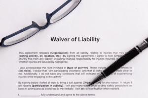 example of a liability waiver