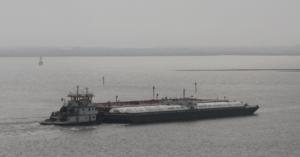 barge at sea