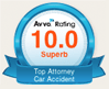 AVVO 10/10 logo