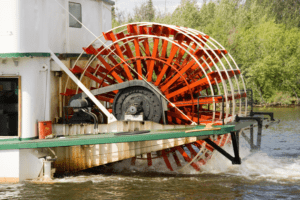 river boat paddle wheel