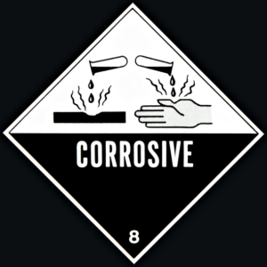 corrosive chemicals warning