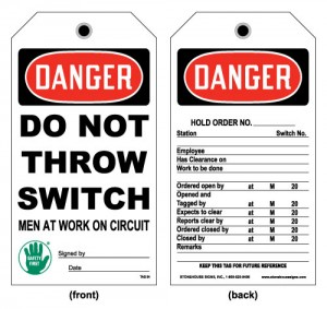 Typical Tagout Device