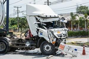 Truck in a wreck