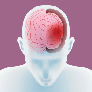 brain trauma illustration