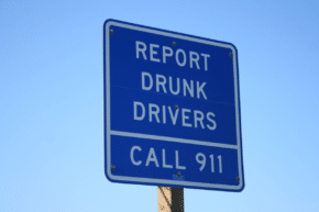 Report Drunk Driver's Sign