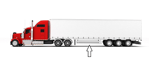 truck with side underride guard