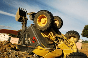 backhoe rollover accident