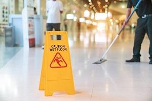 slip and fall warning sign